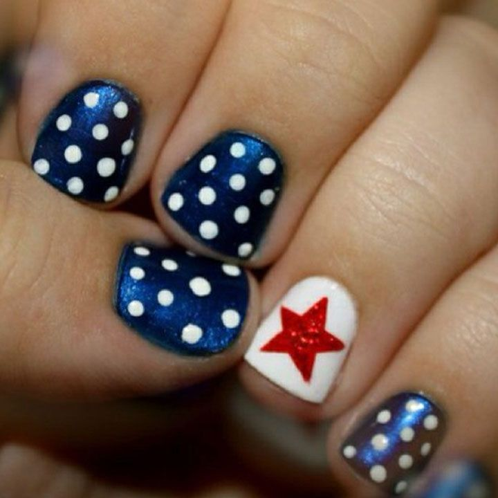 Easy 4th of July nail designs so easy you will freak out...then go paint your nails of course! @Allamode ⓐⓛⓛⓐmode✣✫Creative Pinner✣✫ ⓐⓛⓛⓐmode✣✫Creative Pinner✣✫ ⓐⓛⓛⓐmode✣✫Creative Pinner✣✫