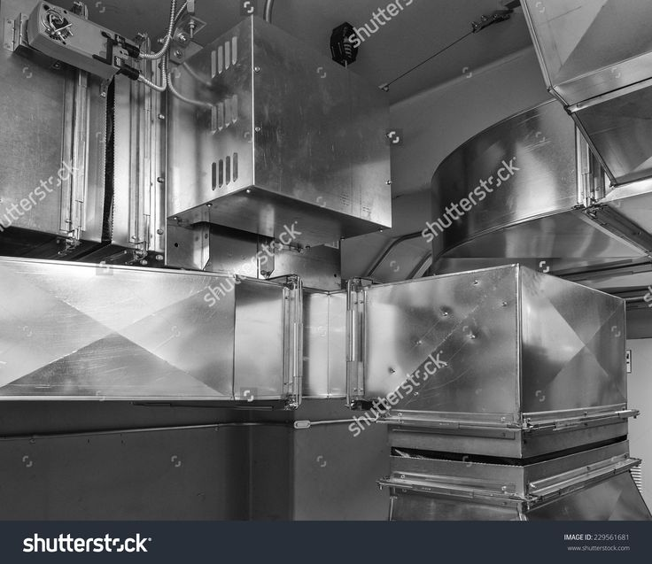 Ductwork With Damper Actuatorcontrols Air Flow Into An Air Conditioned Space. Fotka: 229561681 : Shutterstock