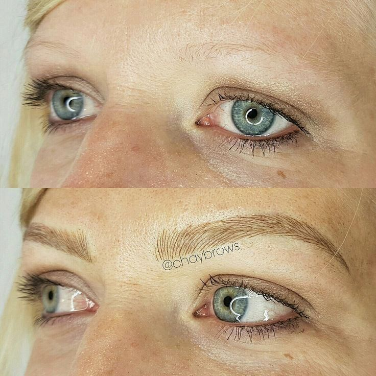 Picture end result for microblading platinum blonde eyebrows