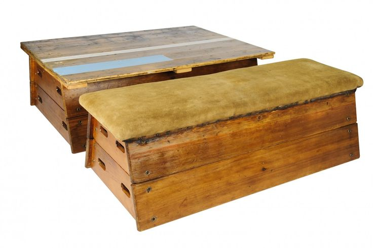 Pommel Horse Coffee Table & Low Bench from Elite Hire