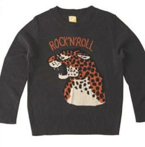 Rock Your Baby Rock N Roll Leopard Jumper in Charcoal – Sweet Thing Baby & Childrens Wear #Winter #Cloth #Boy sweetthing.com.au