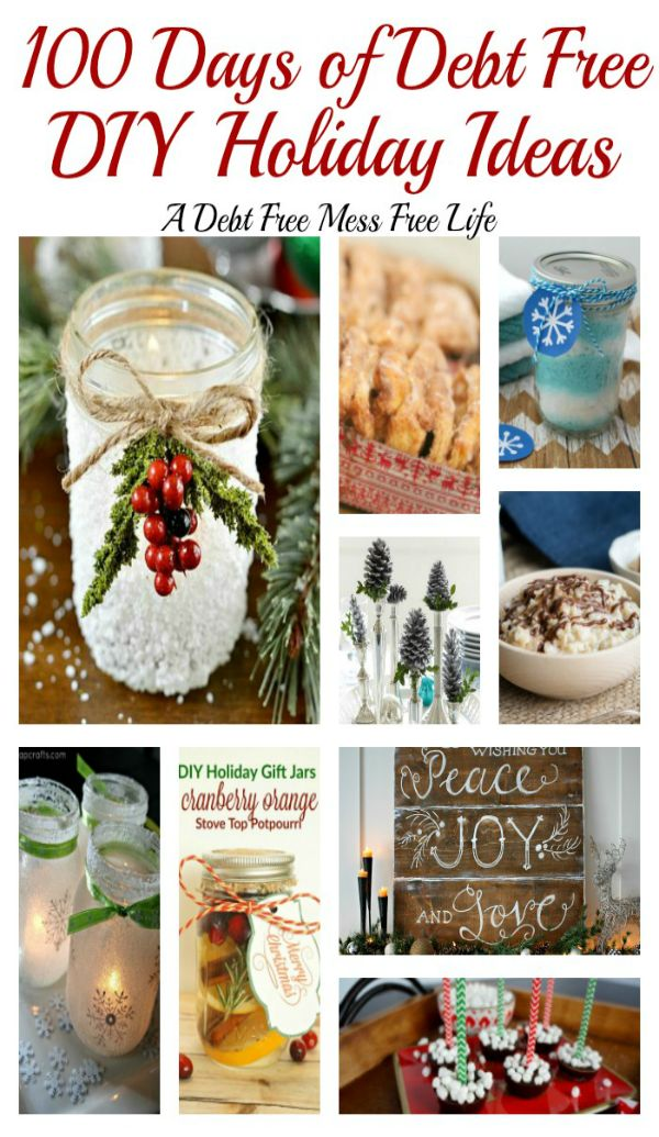 Visit our 100 Days of Debt Free DIY Holiday Ideas for more recipes, decorating ideas, crafts, homemade gift ideas holiday budget tips and much more! 100 Days of Christmas Cheer that won't break the bank!