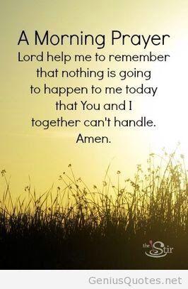 A Morning Prayer