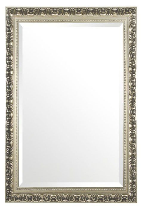 Swirl Ornate Mirror - Silver. Master ensuite