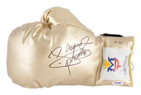 Manny Pacquiao Autographed Signed Gold Boxing Glove
