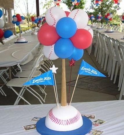 Baseball theme centerpiece