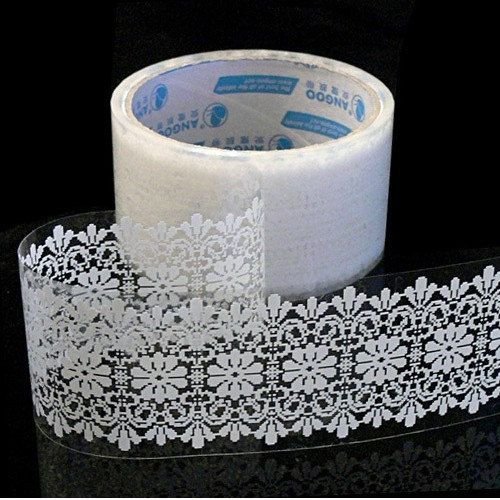 lace tape- could put on jars if you don't have time to color them. still gives it some pizazz!