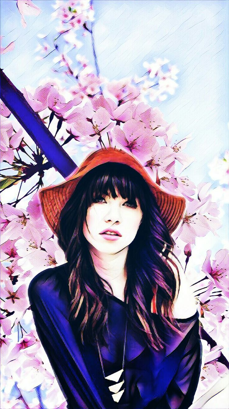 Carly rae Jepsen and flowers