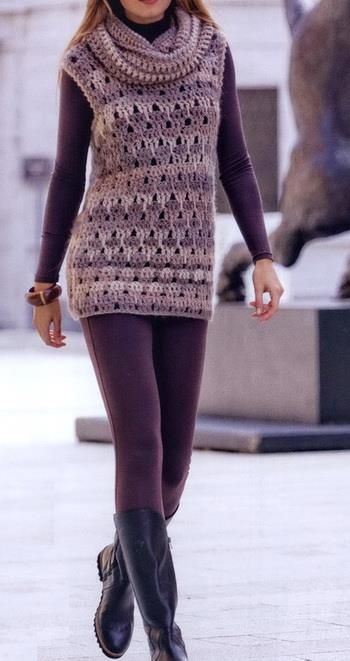 Free Crochet Pattern Tunic Vest : Best 25+ Crochet tunic pattern ideas on Pinterest ...