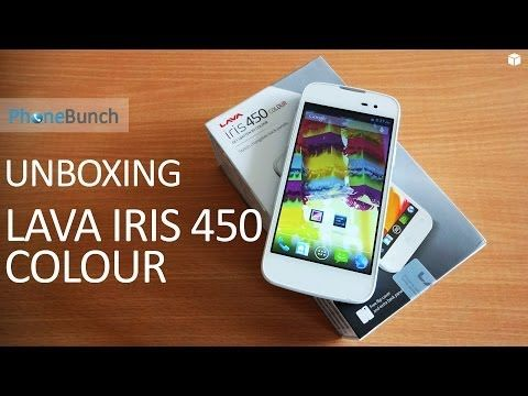 Unboxing the Lava Iris 450 Colour with hands-on overview of included backcover, flip-cover and other accessories. #Lava #Iris450Colour