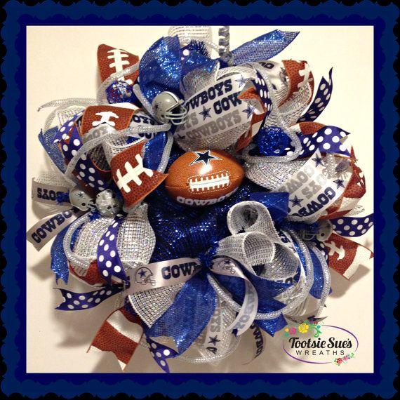 SportsDallas CowboysNFLDeco MeshRed White by TootsieSuesWreaths