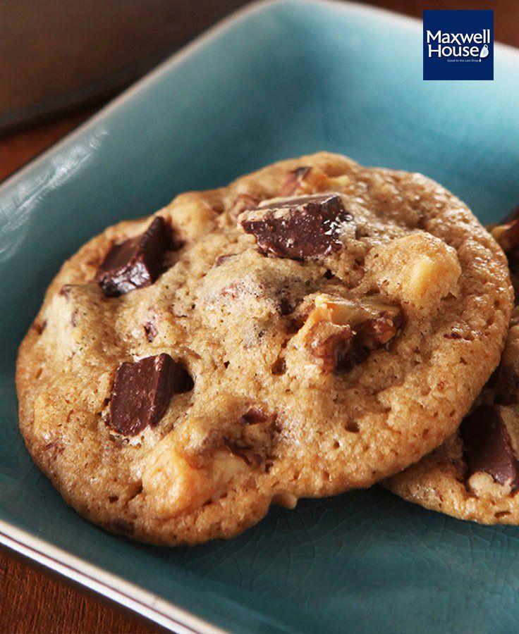 Coffee-Chocolate Chunk Cookies #recipe