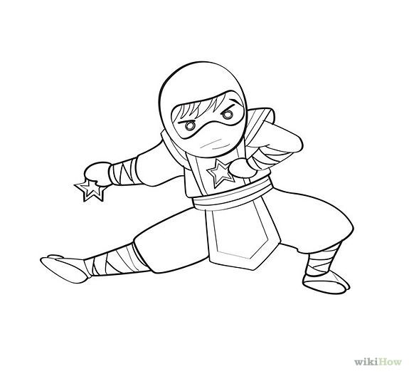 D Line Drawing Easy : How to draw a cute ninja step g other pinterest