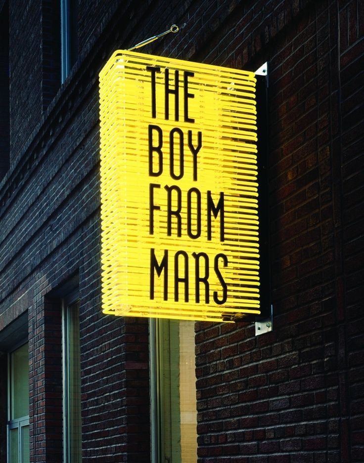 The Boy from Mars Storefront Neon Light Street Signage via http://fromupnorth.com