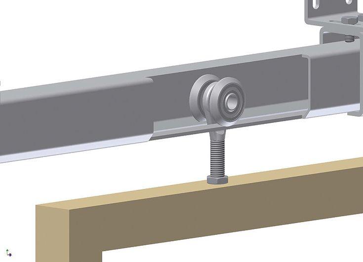 Vozík 2 SBK dvoukolový ložiskový pro posuvné zavěšení dveře, vrata a světlolamy