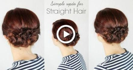 Simple Updo for Straight Hair #hairstyles #promhairupdotutorial