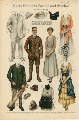 75.2910: Betty Bonnet's Father and Mother | paper doll | Paper Dolls | Dolls | National Museum of Play Online Collections | The Strong