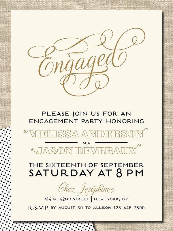 54 best images about engagement invitations – Engagement Party Invitation Ideas