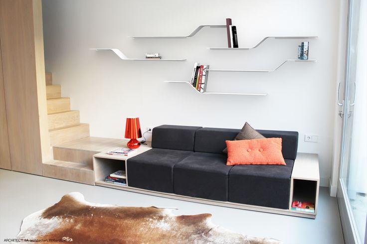 NETWORK modular shelves. Etagères modulaires RESEAU. design julien VIDAME. VIDAME CREATION.