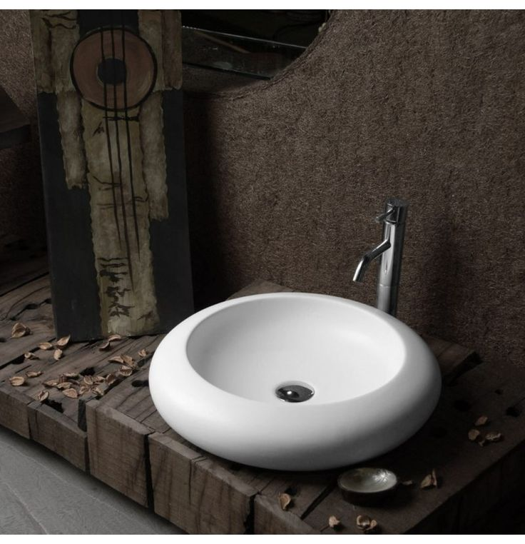 Soncera Circle Table Top Basin Of 490 X 490 In White