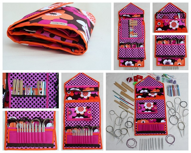 KnitPack Ultimate case to store and organize circulars, interchangeables, notions and crochet hooks.