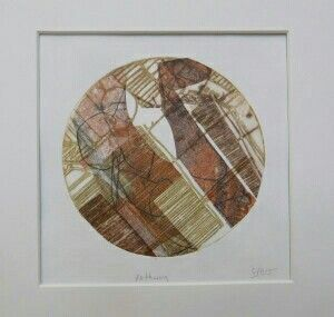 Pathway by Sally Hirst collage of hand printed papers