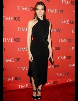 Jessica Biel en robe Tom Ford