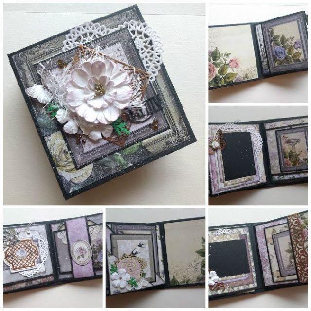 Artdeco Creations Brands: Rambling Rose Mini Album by Jo Simons