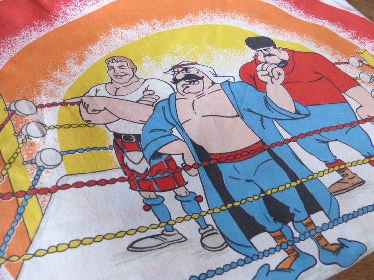 Vintage 1980's Hulk #Hogan's Bed #Sheet // Rockin 'n' #Wrestling ,  View more on the LINK: http://www.zeppy.io/product/gb/3/264141474/