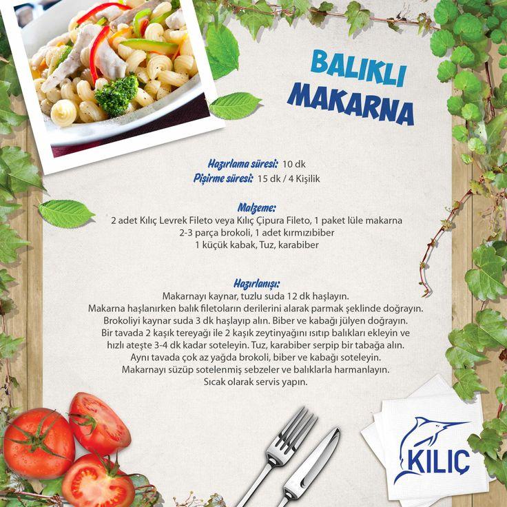 Balıklı Makarna #KilicDeniz #yemek #tarif