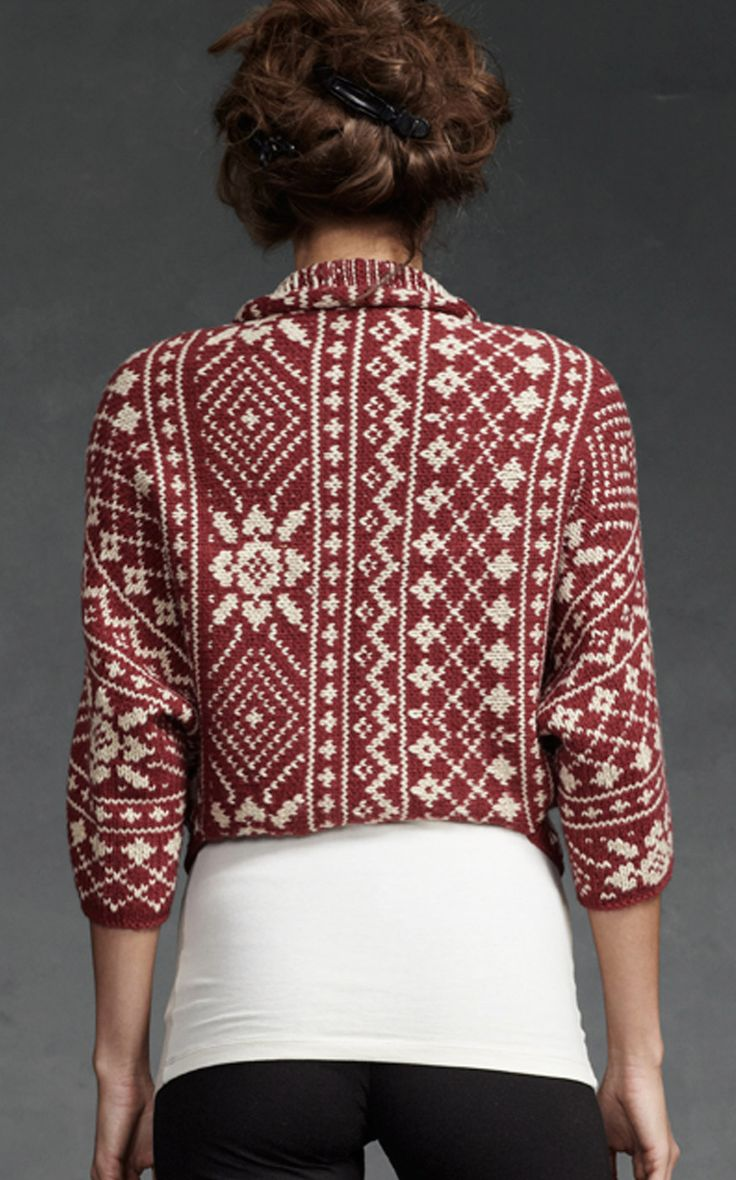 Fair Isle Shrug - Tops, Sweaters - CAbi Fall 2012 Collection