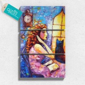 Obraz na płótnie Godzina czarów tryptyk. #obraz #płótno #malarstwo #kobieta #sztuka #reprodukcja