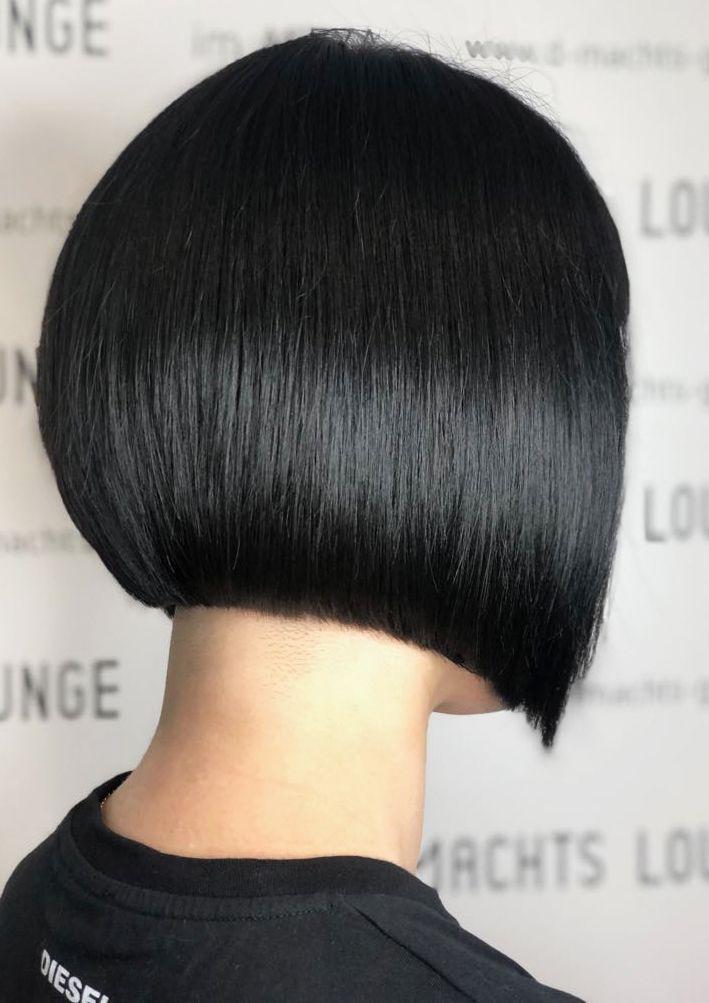 Bob Haircut And Black Hair Color