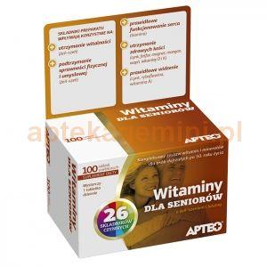 Suplement diety zawierający zestaw witamin i minerałów dla osób dojrzałych po 50 roku życia.