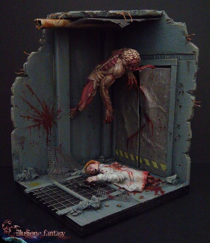 Un bagno di sangue: Diorama Resident Evil!! Nuovo anno e nuove miniature che, rimaste celate fin ora, si mostrano in tutta la loro terrificante voglia di fare a brandelli qualcosa...