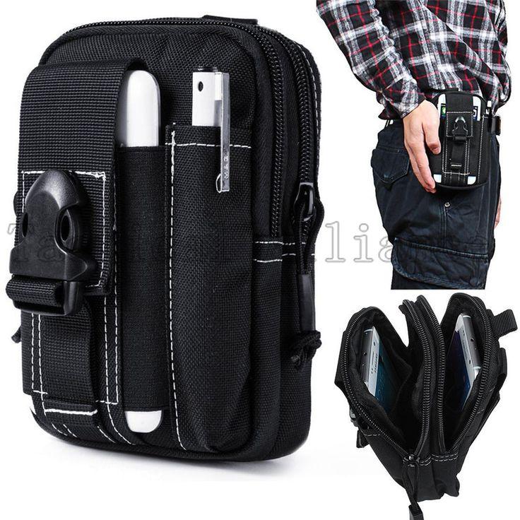 Universal Tactical Holster Airsoft Molle Waist Belt Clip Bag Wallet EDC Gadget Pouch Purse Cell Phone Case Holder Outdoor Gear.