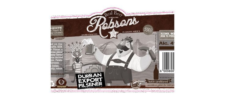Robsons Real Beer: Illustration and Design by Electrik Design Agency www.electrik.co.za/