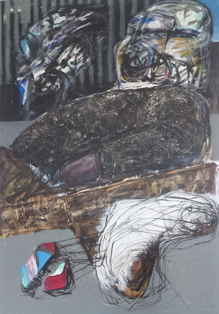 Pawel Kin (acrylic on canvas) Fat Baron