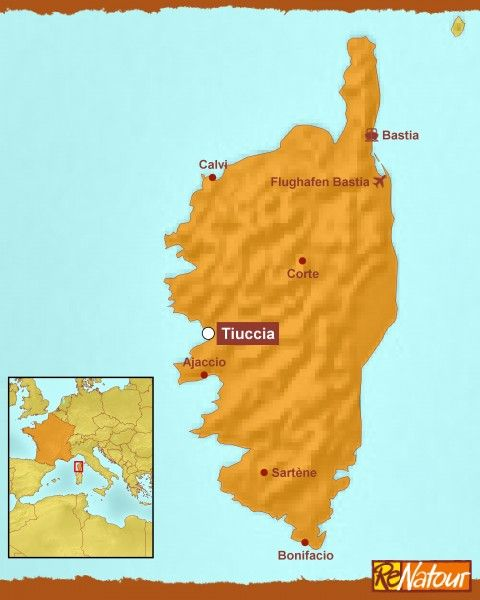 Familienurlaub Korsika - Karte