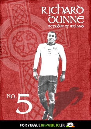Retro Vintage Richard Dunne Football Poster