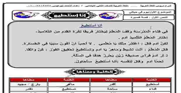 مذكرة لغة عربية للصف الثاني الابتدائي ترم اول 2021 Airline Travel Boarding Pass
