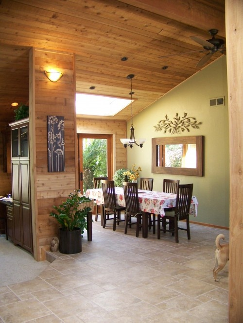 Like The Wood On One Wall Matching The Ceiling For Quot The