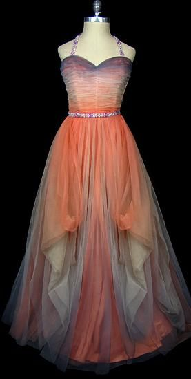 1950s Hattie Carnegie dress via The Frock - unusual and beautiful colour combination.