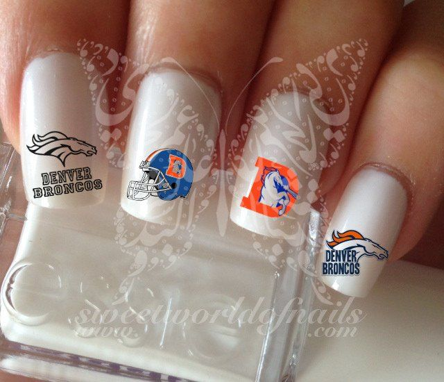 334 best nails images on pinterest nail scissors nails design denver broncos football nail art water decals prinsesfo Image collections