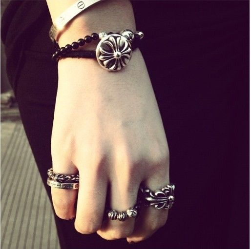 Chrome Hearts Ring Doublefloral Outlet Online - Chrome Hearts Ring - Chrome Hearts Jewelry
