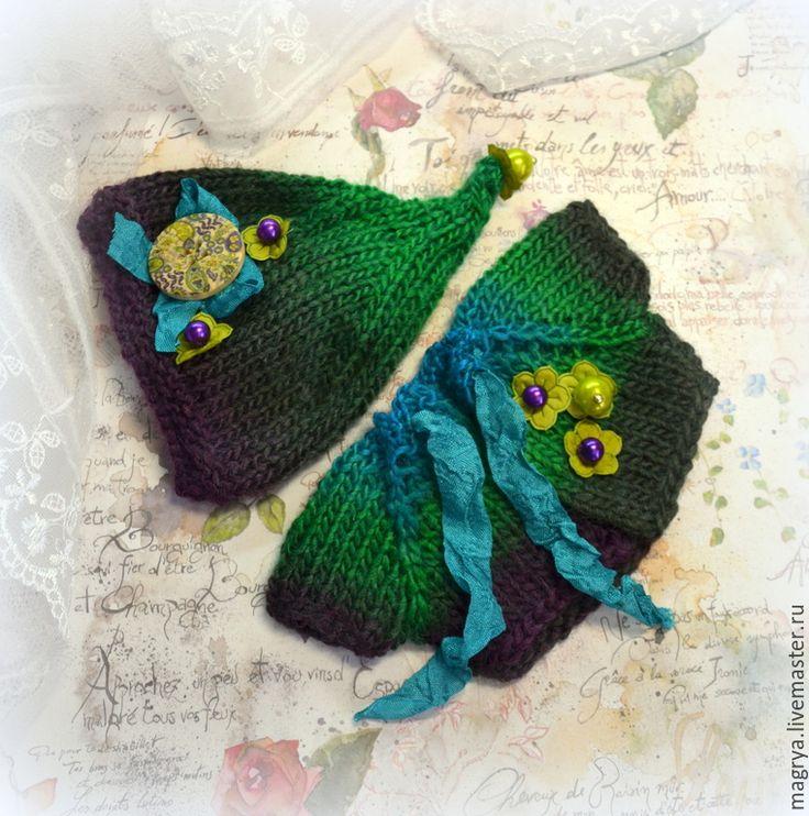 Купить Комплект одежды вязаный (шапка, кофта) Лесной Эльф - друзья мишек тедди