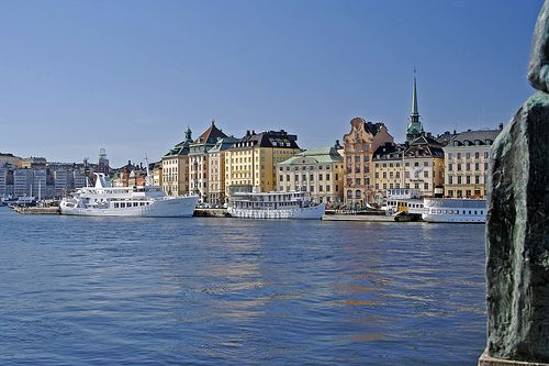 Stockholm ships, boats and buildings