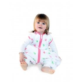 """""""MUSSELIN SCHMETTERLING MIT FÜßEN"""" - Unser Musselin Sommerschlafsack mit Füßen für Mädchen ist mit kleinen Schmetterlingen und Marienkäfern bedruckt und farblich passendem Saum eingefasst. Der Schlafsack mit Füßen bietet den Komfort eines regulären Schlafsacks nur mit Öffnungen für kleine Kinderfüßchen und sorgt damit für noch mehr Bewegungsfreiheit. Beim Schlafen passen die Füße bequem in den Schlafsack, somit gibt es keine kalten Füßchen. Auf www.schlummersack.de in vier Größen erhältlich."""