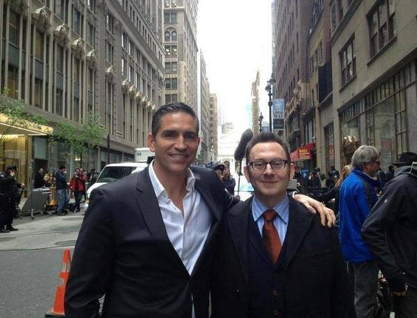 Photo of Michael Emerson & his friend actor  Jim Caviezel - Person Of Interest