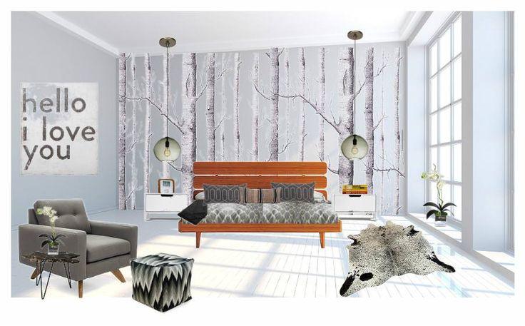 Birch Tree Bedroom Cole Sons Birch Tree Wallpaper Scandinavian Bedroom Inspiration Board By